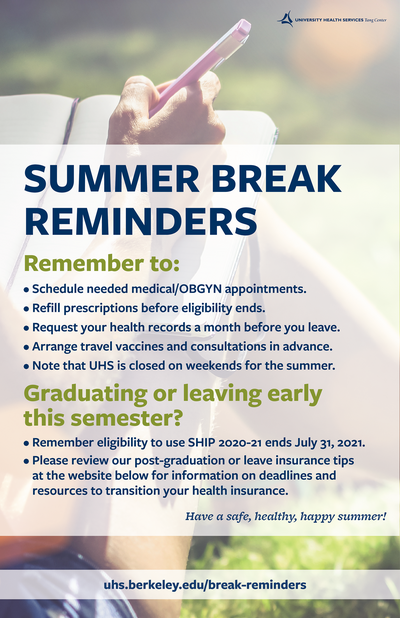 Summer Break Reminders