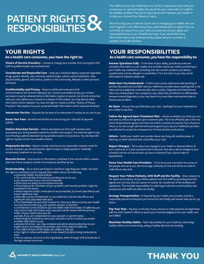 Patient Rights and Responsibilities